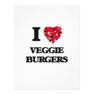 "I love Veggie Burgers 8.5"" X 11"" Flyer"