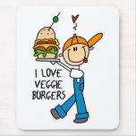 I Love Veggie Burgers Mouse Pad