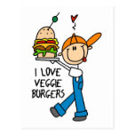 I Love Veggie Burgers Postcard