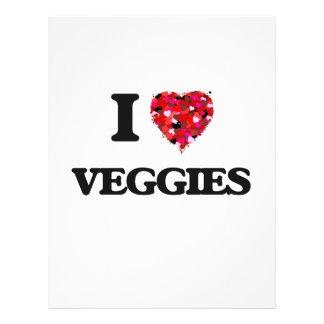 "I love Veggies 8.5"" X 11"" Flyer"