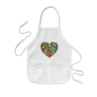 I Love Veggies Kids' Apron