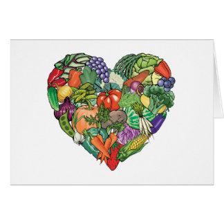 I Love Veggies Card