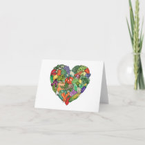 I Love Veggies Holiday Card