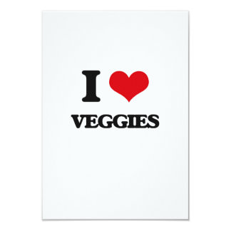 "I love Veggies 3.5"" X 5"" Invitation Card"