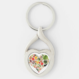 I love Veggies! Keychain
