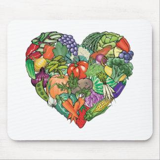 I Love Veggies Mouse Pad
