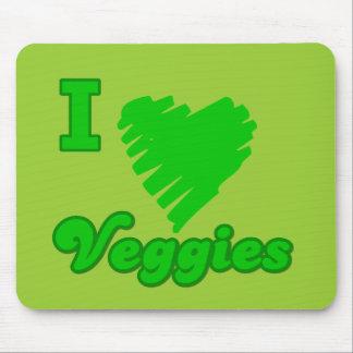 I Love Veggies Mousepads