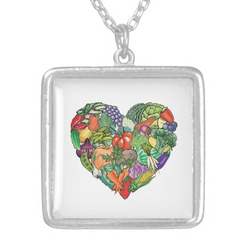I Love Veggies Personalized Necklace