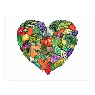 I Love Veggies Postcard