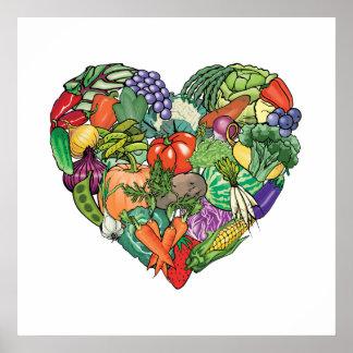 I Love Veggies Print