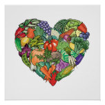 I Love Veggies Print