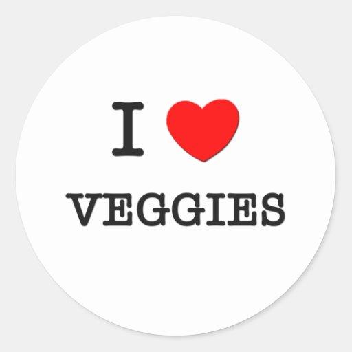 I Love Veggies Sticker