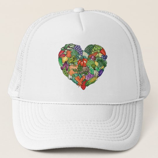 I Love Veggies Trucker Hat