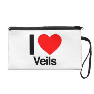 i love veils wristlet clutch