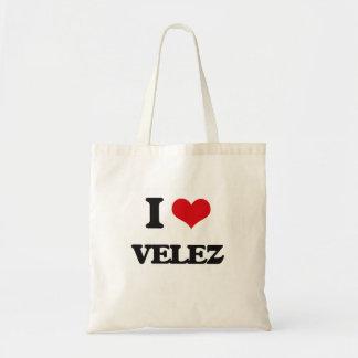 I Love Velez Budget Tote Bag