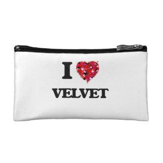 I love Velvet Makeup Bag