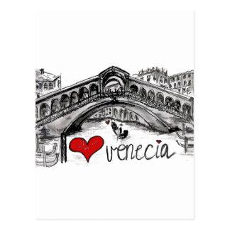 I love Venecia Postcard