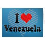 I Love Venezuela Greeting Card