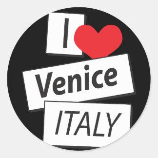 I Love Venice Italy Classic Round Sticker
