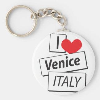 I Love Venice Italy Keychain