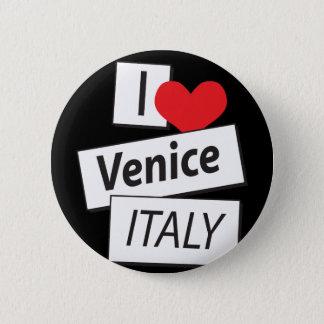 I Love Venice Italy Pinback Button