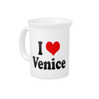 I Love Venice, Italy Beverage Pitcher
