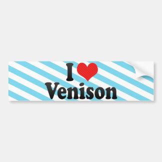 I Love Venison Bumper Sticker