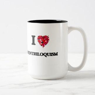 I love Ventriloquism Two-Tone Coffee Mug