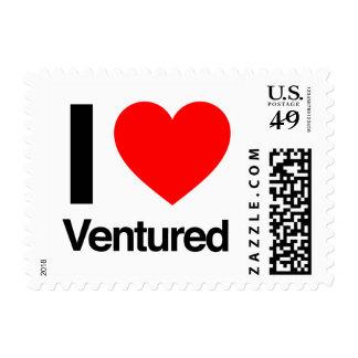 i love ventured stamp