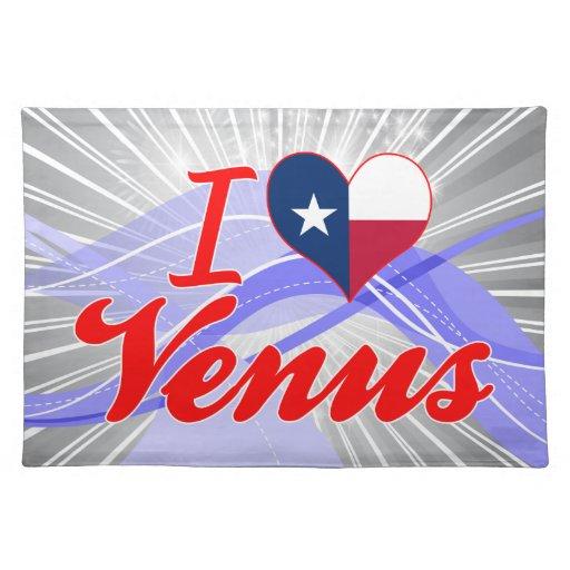 I Love Venus, Texas Cloth Placemat