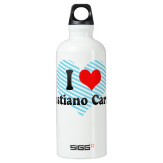 I Love Venustiano Carranza, Mexico Aluminum Water Bottle