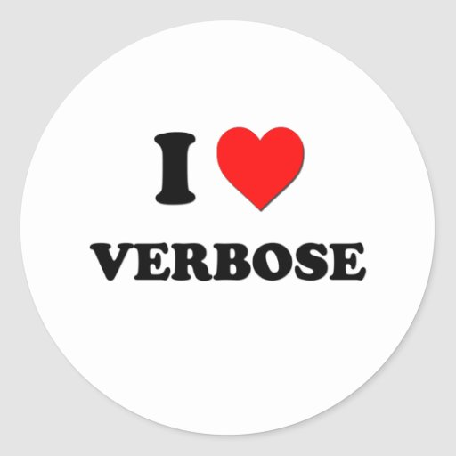 I love Verbose Stickers
