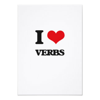 I love Verbs 5x7 Paper Invitation Card