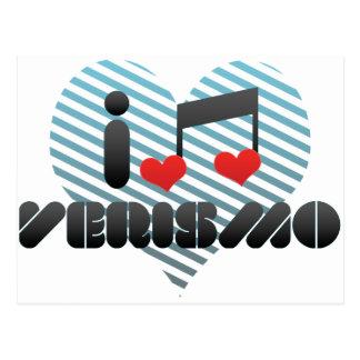 I Love Verismo Postcard