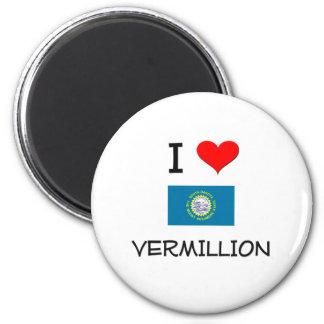 I Love Vermillion South Dakota Magnet