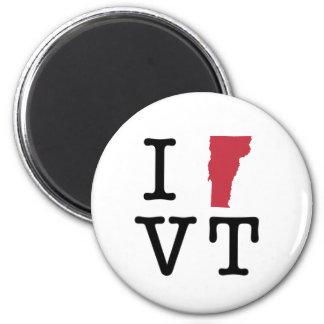 I Love Vermont 2 Inch Round Magnet