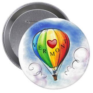 I Love Vermont - 802 - Balloon Button 1