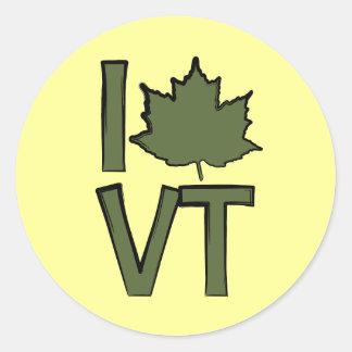 I Love Vermont Classic Round Sticker