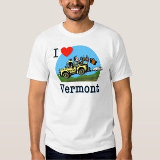 I Love Vermont Country Taxi Tee Shirt