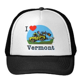 I Love Vermont Country Taxi Trucker Hat