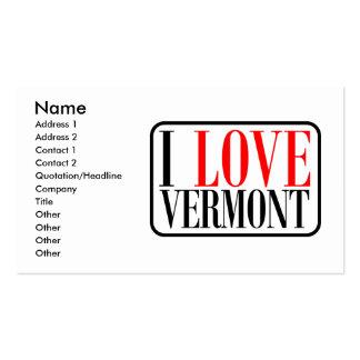 I Love Vermont Design Business Card
