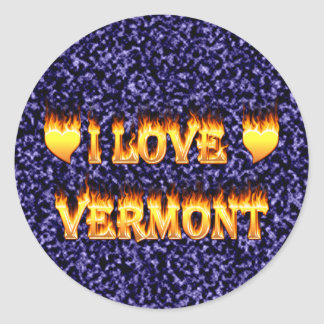 I love vermont fire and flames sticker