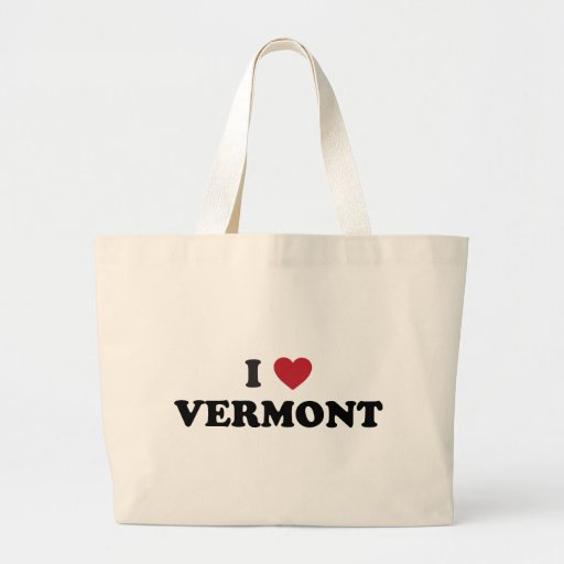 I Love Vermont Jumbo Tote Bag