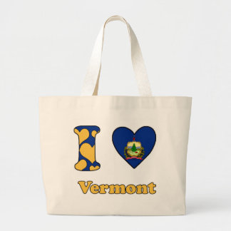 I love Vermont Large Tote Bag