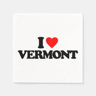 I LOVE VERMONT PAPER NAPKIN