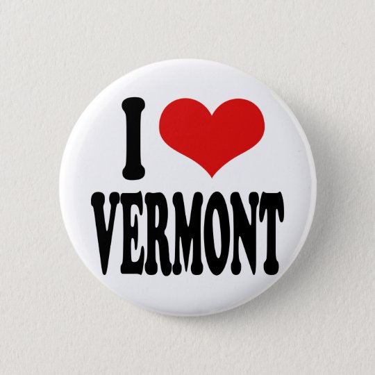 I Love Vermont Pinback Button