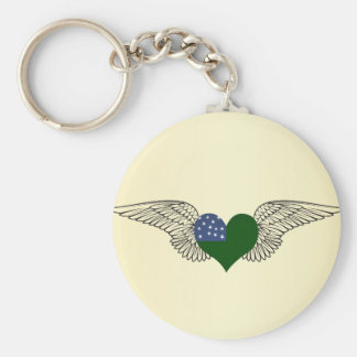 I Love Vermont Republic -wings Key Chains
