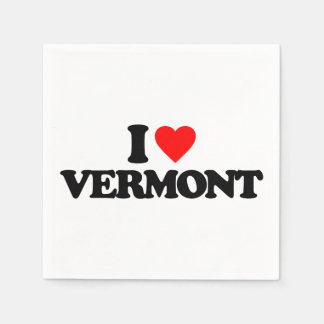 I LOVE VERMONT DISPOSABLE NAPKINS