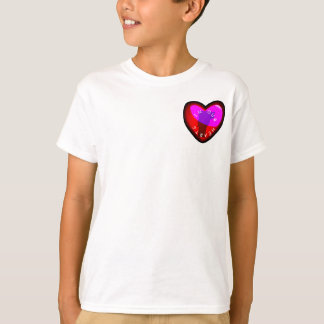 I Love Vermont with Map - Heart. T-Shirt - 2 sides