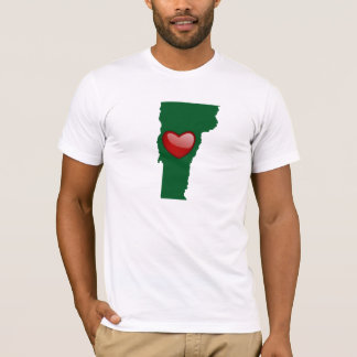 I Love Vermont with Map - T-Shirt